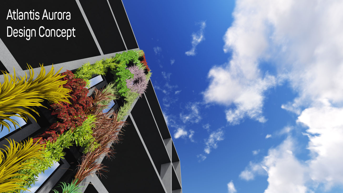 Vertical Garden Design Atlantis Aurora
